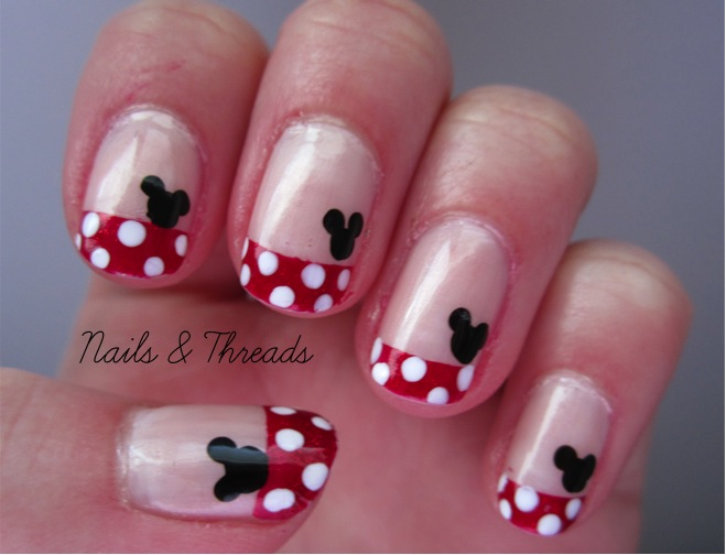 Nails & Threads: Mickey Mouse Nail Art