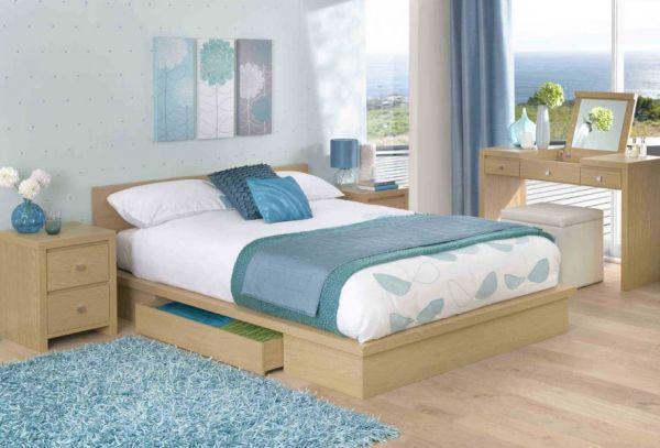 Dormitorios en celeste y blanco dormitorios con estilo for Dormitorio blanco y madera