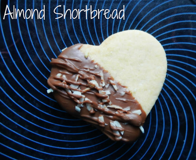 Almond Shortbread Heart