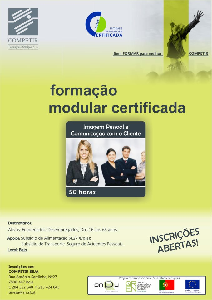 Formação modular certificada: imagem pessoal e comunicação com o cliente em Beja (2013)