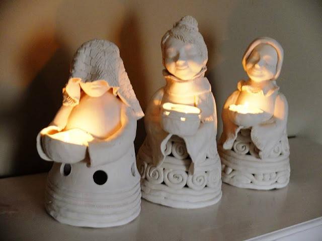 atystyczne swieczniki z gliny