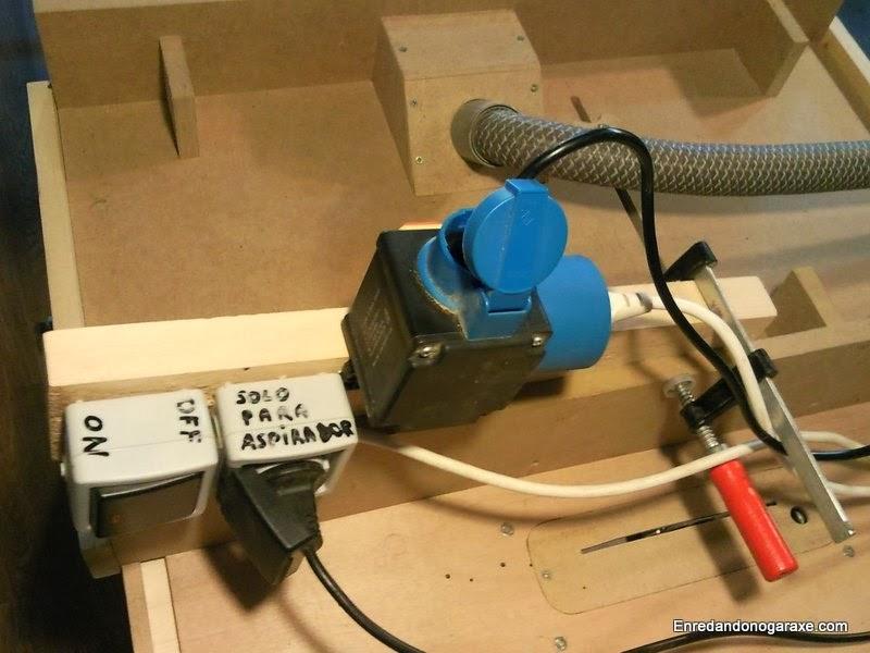 Enchufe de seguridad e interruptor para sistema de aspiración y máquinas, enredandonogaraxe.com