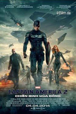 Captain America: The Winter Soldier 2014 poster