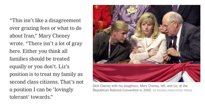 Woman with dick cheney s family
