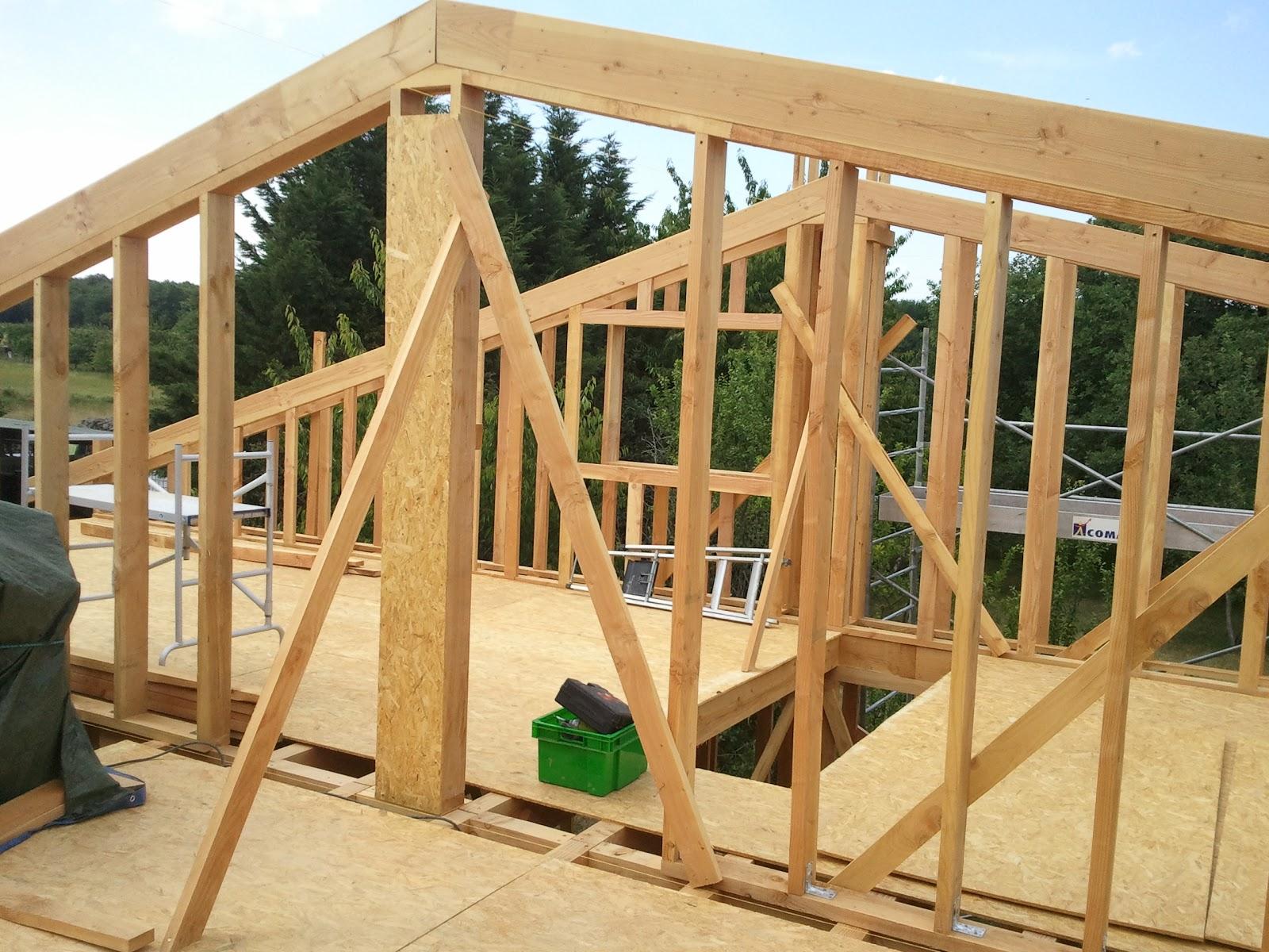 Maison Paille Ossature Bois - Notre maison ossature bois isolation paille  On avance l'ossature de l'étage