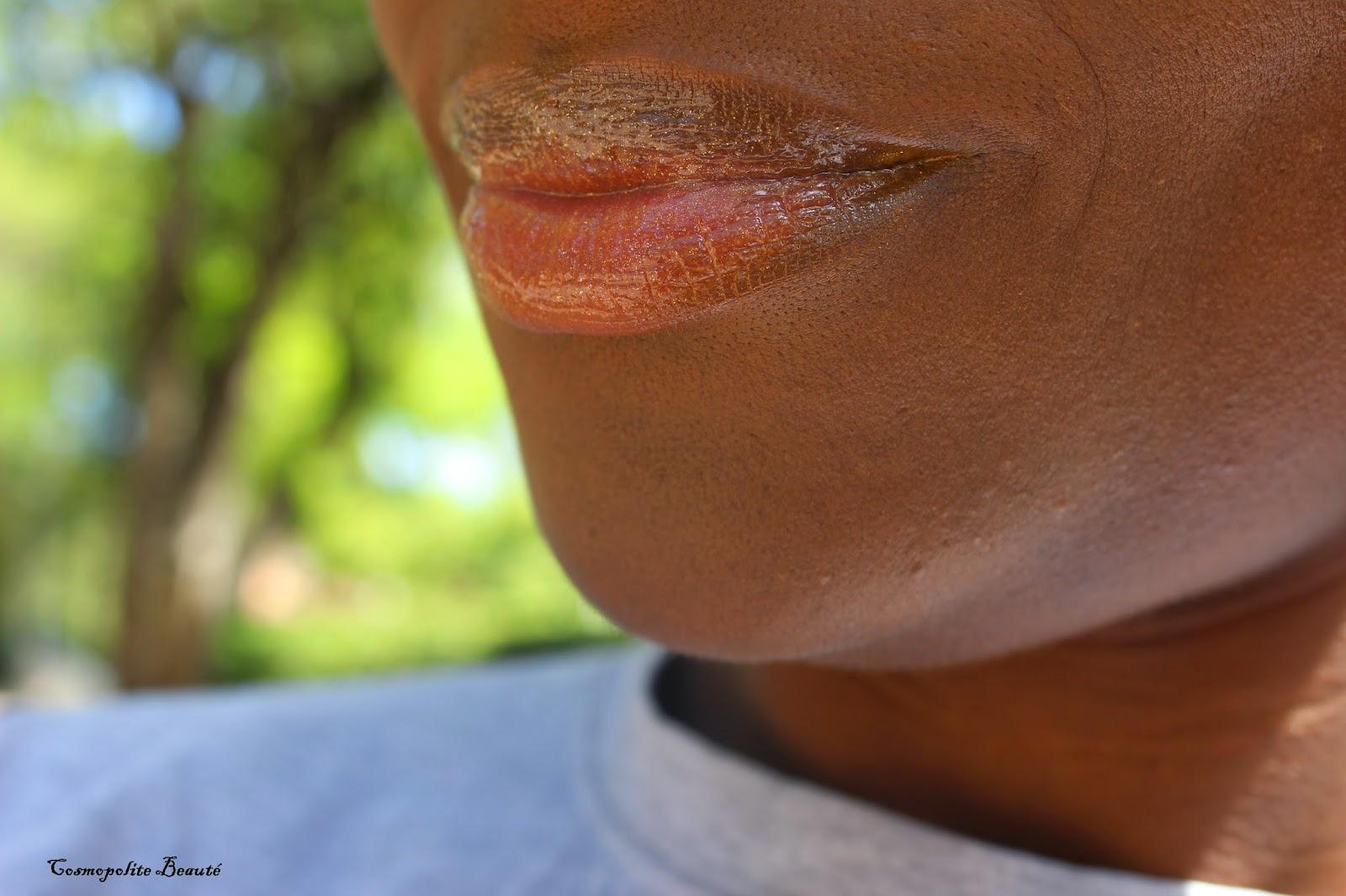 Gloss,effet 3D de Bourjois couleur Or Fééric, lèvres, rouge à lèvres, maquillage