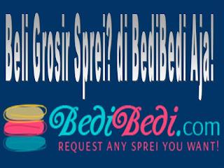 Beli Grosir Sprei di BediBedi Aja karena tersedia berbagai macam motif, ukuran, atau kombinasi sprei dan badcover