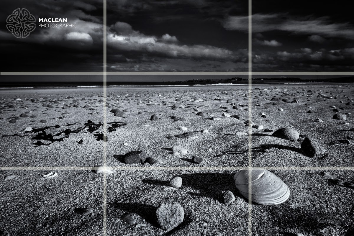 rule of thirds photography black and white. The Following Photographs Taken On Belhaven Bay Beach Demonstrate Application Of Rule Thirds. Horizon Sits At Horizontal Line Dividing Thirds Photography Black And White P