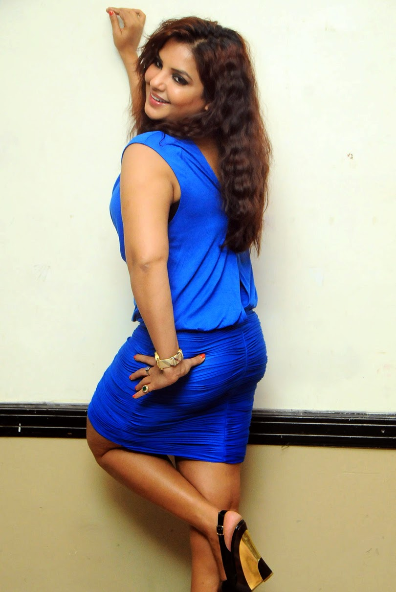 Actress Mansi Blue Colour Dress 019 Swapna Hot