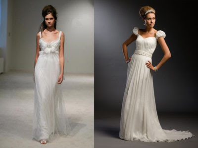chiffon tulle floor-length wedding dress