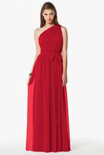Vestido rojo para madrinas Dessy