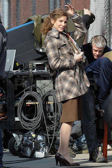 Sandra Bullock on Set