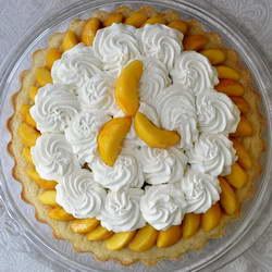 Brandied Peach Cream Cheese Shortcake