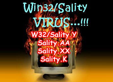 Cara Membersihakn Virus Sality