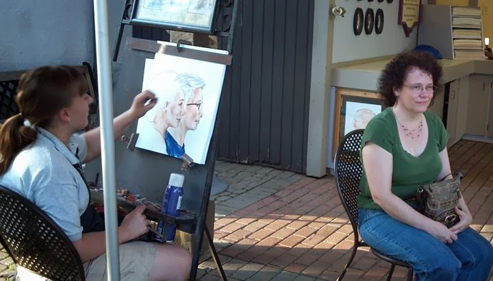 Having my portrait drawn