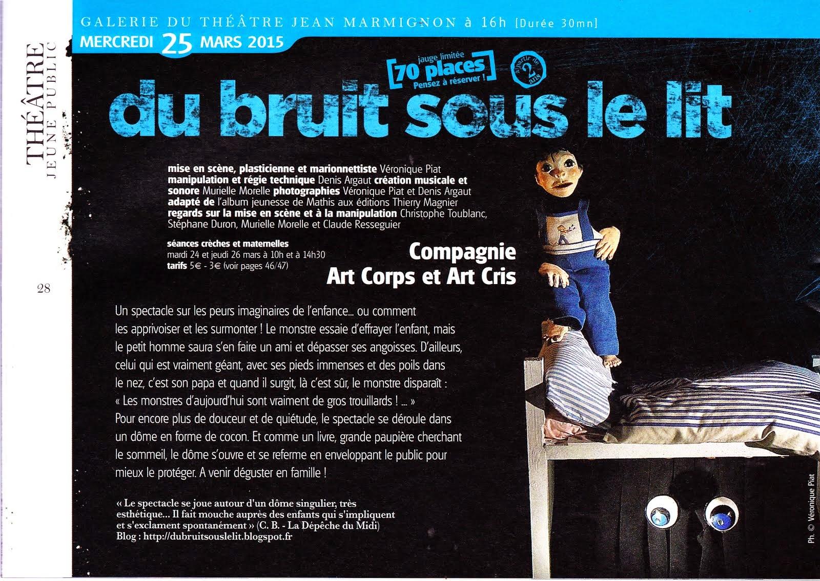 Programmation au théâtre Marmignon de Saint-Gaudens