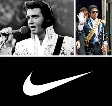 Elvis Presley, Michael Jackson, Nike