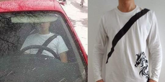 Inilah Kaos untuk Menipu Polisi Saat Mengendarai Mobil