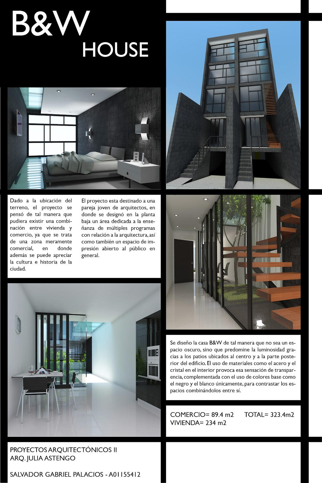 Arquitectura salvador g b w house vivienda entre for Laminas arquitectura