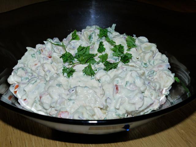 kartöflusalat með saffrani