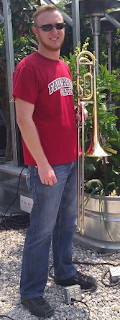 My trombone and I after a jazz concert.