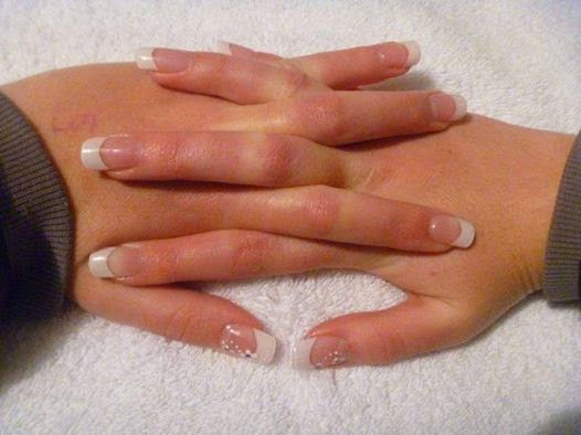 Classic french white acrylic tips