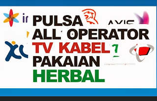 Pembayaran TV Satelit, Pulsa All Operator, Pakaian dan Herbal