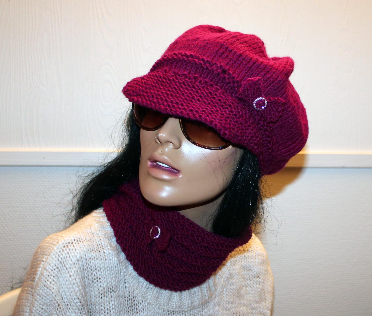 strikket hals og strikket lue