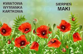 Kartkowa wymianka kwiatowa - maki
