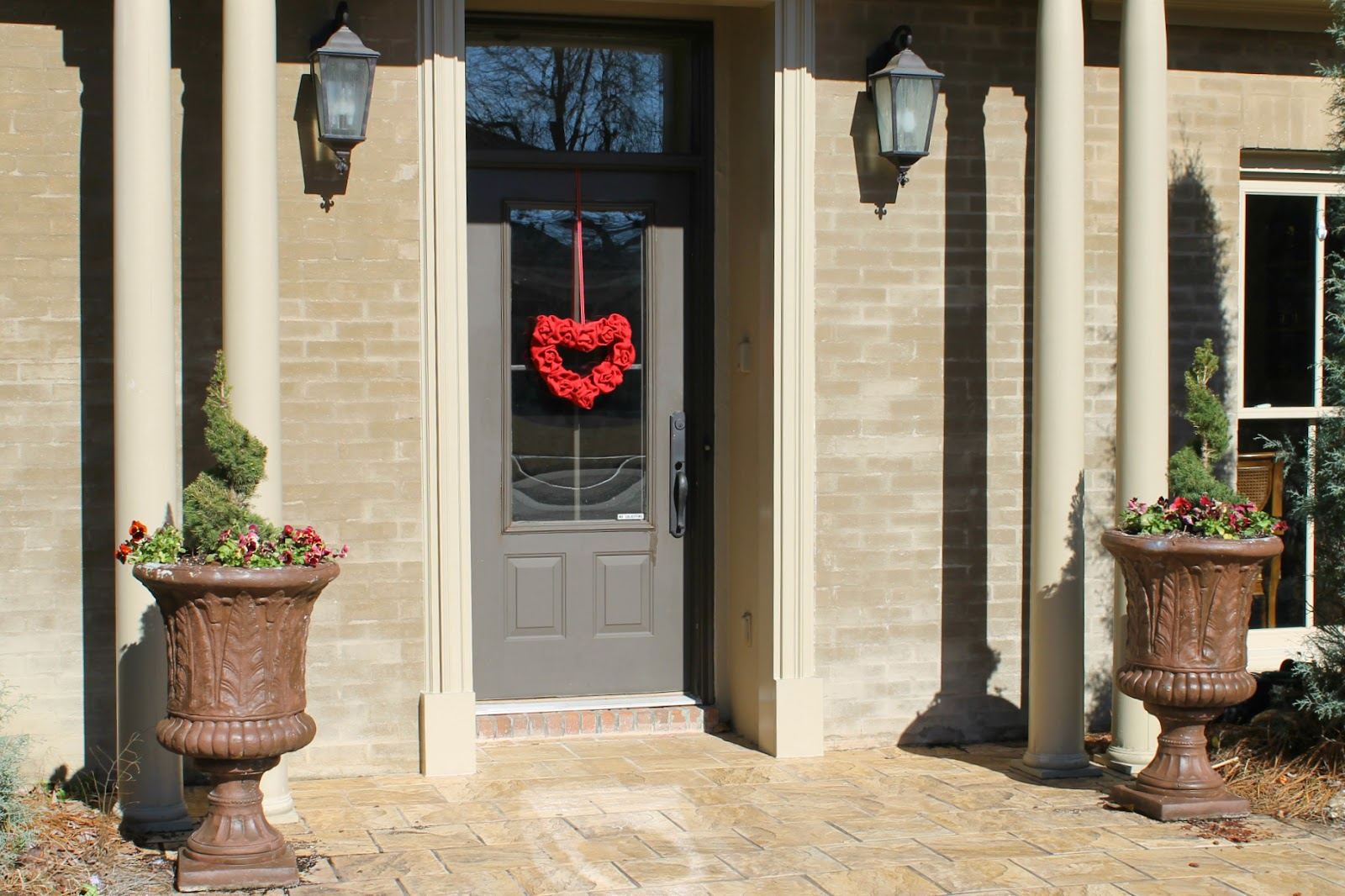 valentine wreath on door