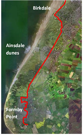 Habitat loss on the Sefton coast, north-west England