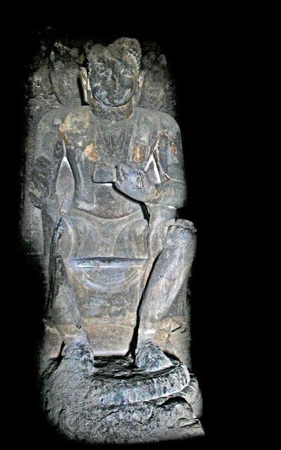 Buddha shrine inside the Aurangabad caves