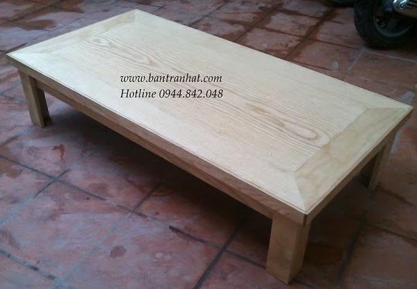 bàn trà gỗ sồi nga 1m2