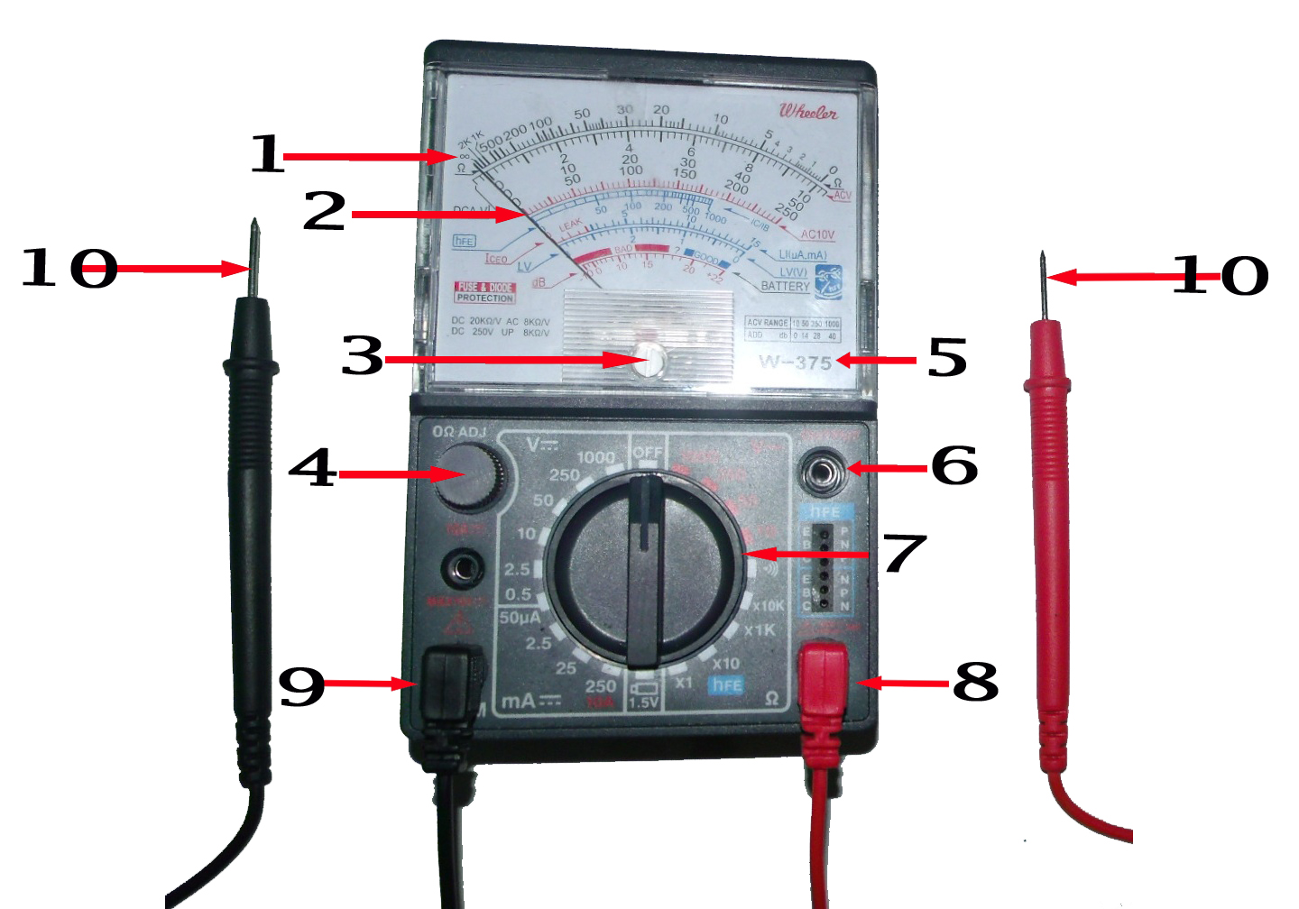 Electronics Tester Parts : Consumer electronic servicing multi tester