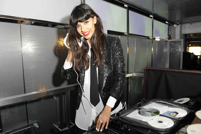 Jameela Jamil Armani Exhchange party