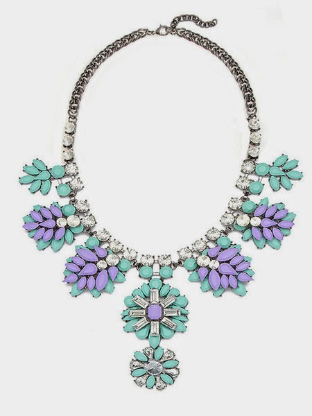 Just J: Olive+Piper garden party statement bib necklace