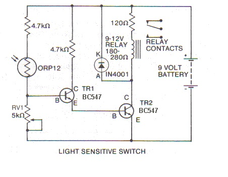 Electronic circuit, componnent data, lesson and etc….: Light ...