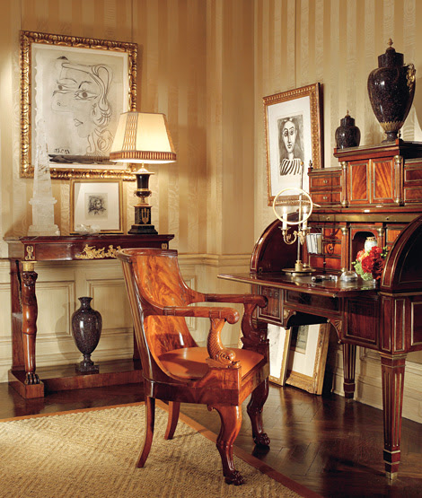 Eye for design biedermeier furniture beautiful for Neoclassical bedroom interior design