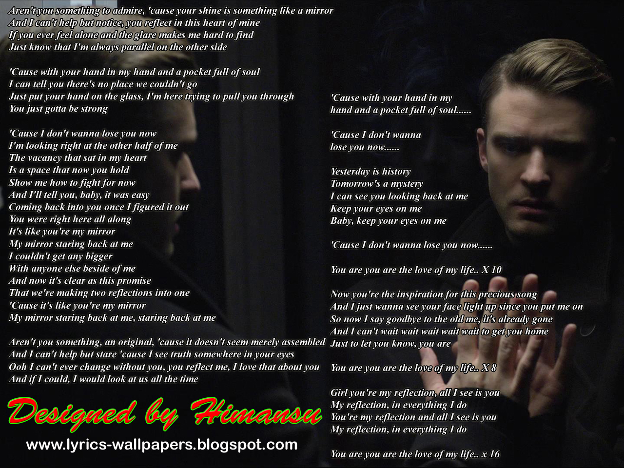 lyrics wallpapers justin timberlake mirrors
