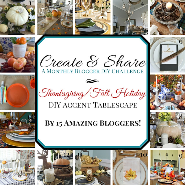Thanksgiving table ideas from 16 bloggers – such cute ideas! | Green With Decor