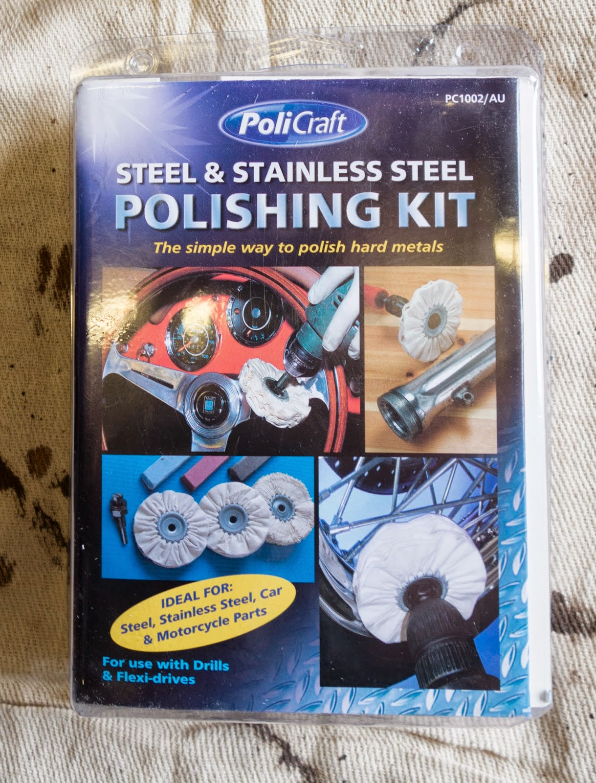 Steel and Stainless Steel Polishing Kit.
