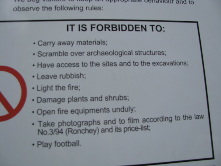 rules at the cumae ruins