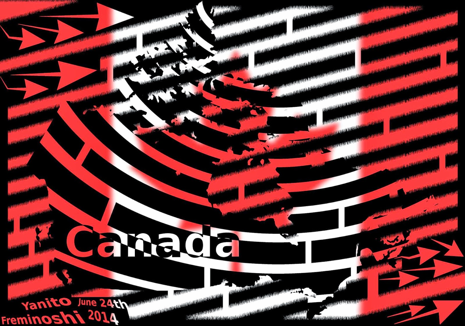 Maze of Canadian flag