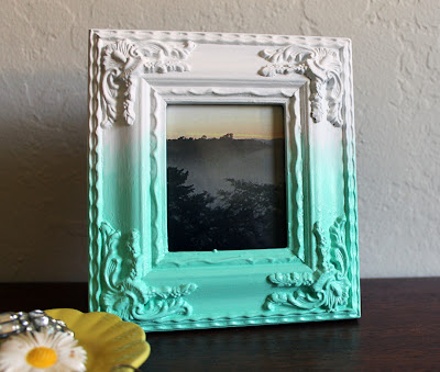 ombre painted photo frame - vitamini handmade