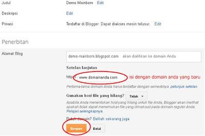 Cara Setting Domain di Intuit untuk Blogger