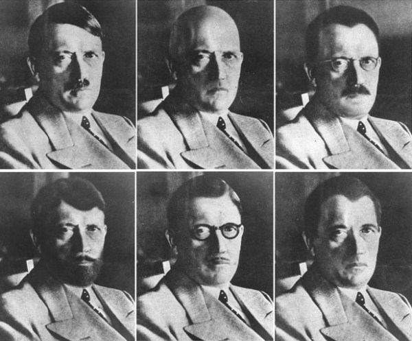 40 Amazing Historical Pictures - US Government mockups of how Hitler could have disguised himself.