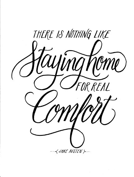 Lettering Lately > Home quote