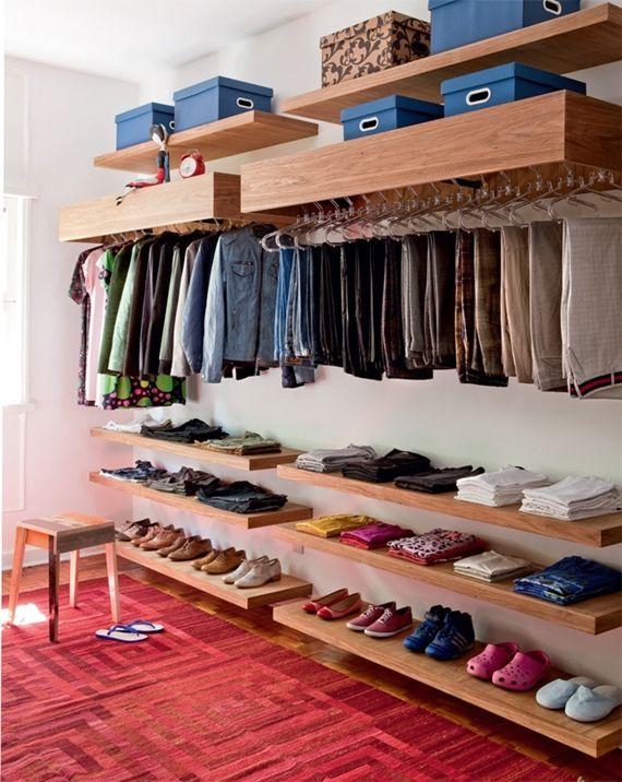 Monte o seu closet gastando pouco.