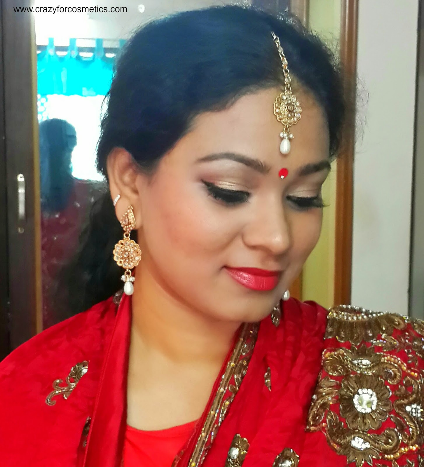 Bengali Bridal makeup-Bengali Bridal makeup tutorial- Indian Bridal makeup tutorial-Indian bengali Bridal makeup step by step-Indian eyeshadow makeup tutorial-Bengali wedding makeup eyemakeup tips-Indian bridal makeup tips blog-Bengali weddings-Bengali saree