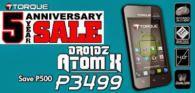 Torque DROIDZ Atom X Specs and Price Discounts!
